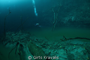 Cenote Angelita(looks,like underwater river) by Girts Kravalis 